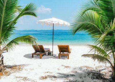 Beach chair bimini