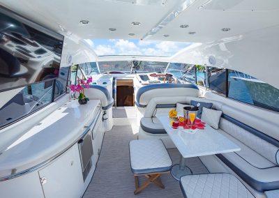 boat deck champagne